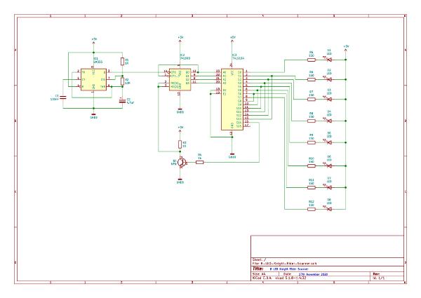 Knight Rider scanner circuit